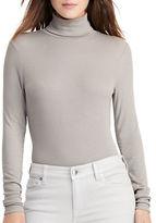 Lauren Ralph Lauren Ribbed Jersey Turtleneck Pullover