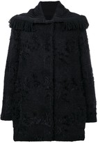 Ermanno Scervino fringed-collar fitted coat