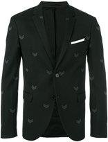 Neil Barrett chevron print blazer