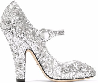 Dolce & Gabbana Sequined Leather Pumps