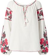 Chelsea Flower EXCLUSIVE Embroidery Caftan Top