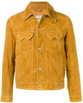 Ami Alexandre Mattiussi Suede Buttoned Jacket With Chest Pockets