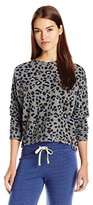 Sundry Women's Leopard Pullover