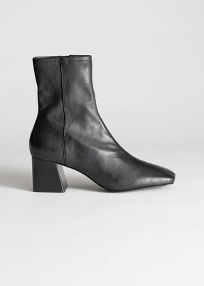 And other stories Square Toe Leather Boots