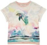 Stella McCartney Plum Dolphin Cropped T-Shirt