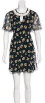 Anna Sui Silk Floral Print Dress