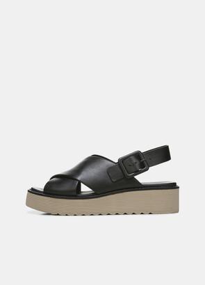 Vince Zena Leather Platform Sandal