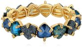 lonna & lilly Gold-Tone and Blue Abalone Stretch Bracelet