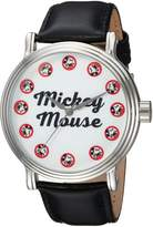 Disney Men's 'Mickey Mouse' Quartz Metal Casual Watch, Color: (Model: WDS000335)