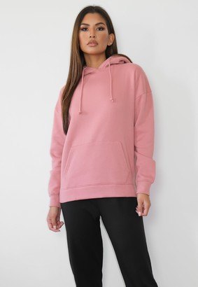 Missguided Rose Basic Oversized Hoodie