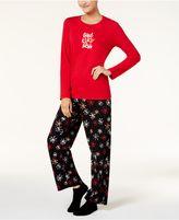 Hue Printed Pajama Set With Coordinating Socks