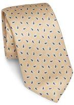 Isaia Paisley Printed Silk Tie