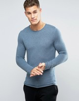 Selected Ribbed Knit Sweater