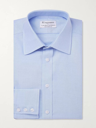 Kingsman + Turnbull & Asser White Cotton Royal Oxford Shirt
