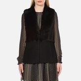 MICHAEL Michael Kors Women's Fitted Faux Fur Vest Black