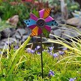 Studio M Miniature Fairy Garden Pinwheel Pick, Color Choices, Fuchsia