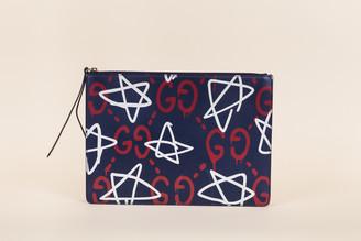 Gucci Ghost Graffiti Convertible Shoulder Bag/Clutch