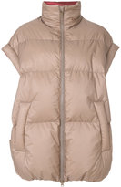 Maison Margiela oversized padded gilet coat - women - Cotton/Feather Down/Polyamide/Virgin Wool - 38