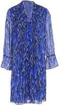 Diane von Furstenberg Pleated Printed Silk-Georgette Mini Dress