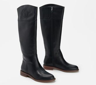 Franco Sarto Wide-Calf Leather Tall- Shaft Boots - Hudson
