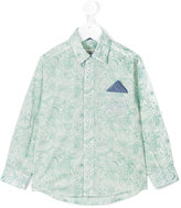 Cashmirino Linear floral print shirt