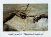Michelangelo 1art1 Posters Buonarroti Poster Art Print - Creazione Di Adamo (Particolare) (28 x 20 inches)