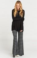MUMU Fiesta Flare Pant ~ Shadow Stripe Rib Night & Grey