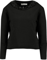 MICHAEL Michael Kors Bead-embellished cotton-blend jersey sweatshirt