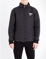 Boy London Logo-quilted shell jacket