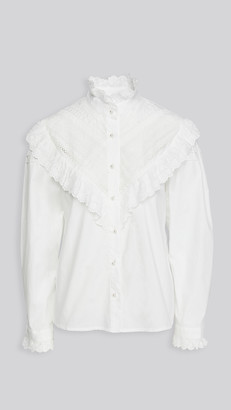 Sister Jane Lawn Lace Trimmed Blouse
