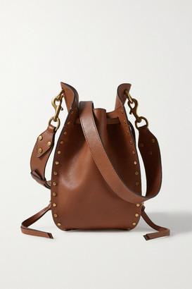 Isabel Marant Radja Studded Leather Bucket Bag - Tan