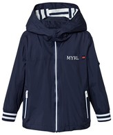 Mayoral Navy Stripe Trim Jacket with Detachable Hood