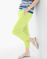 Chico's Paige Washed Zip-Pocket Crop Pants