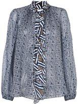 Diane von Furstenberg ruffled printed blouse
