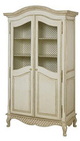 Bonne Nuit Grand Armoire with Wire Doors in Choice of Finish