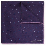 Turnbull & Asser Printed Silk Pocket Square - Purple