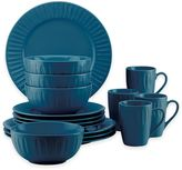 Dansk The Burbs Carved 16-Piece Dinnerware Set in Medium Blue