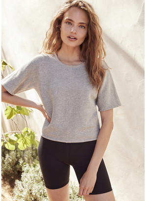 G. Sport Cropped Tunnel-Sleeve Top