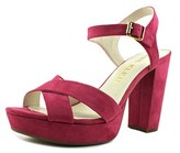 Anne Klein Lalima Women Open Toe Synthetic Pink Platform Heel.