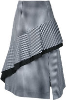Le Ciel Bleu Gingham Check Flow skirt - women - Cotton/Polyester - 34