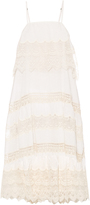 Mes Demoiselles Pistile lace-panel cami dress