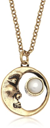 Alcozer & J Moon Brass Necklace with Pearl
