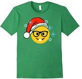 Kids Emoji Christmas Shirts Nerd Face Family Shirts Set Matching 10