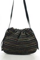 Missoni Multi-Color Striped Drawstring Shoulder Handbag