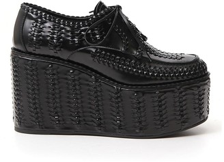 Prada Braided Platform Shoes