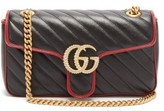 Gucci GG Marmont Quilted Leather Bag - Womens - Black Multi