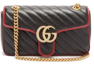 Gucci GG Marmont Quilted Leather Bag - Black Multi