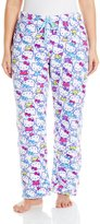 Hello Kitty Women's Plus-Size Splendid Colors Print Pajama Pant