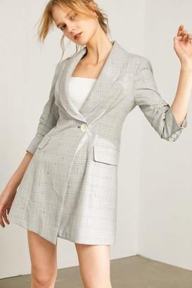 J.ING Avery Grey Blazer Midi Dress