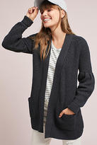 Knitted & Knotted Balloon-Sleeve Cardigan